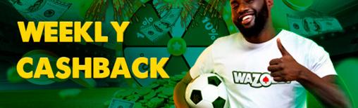 wazobet weekly cashback